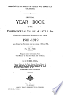 Official Year Book of the Commonwealth of Australia No  13   1920 Book