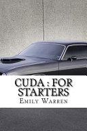 Cuda For Starters Book PDF