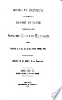 Michigan Reports  1  VOL  1 200 ONLY