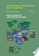Coal  Oil Shale  Natural Bitumen  Heavy Oil and Peat   Volume I