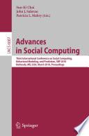 Advances in Social Computing