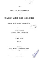The Diary and Correspondence of Charles Abbot, Lord Colchester Pdf/ePub eBook
