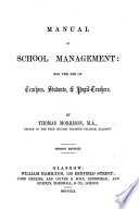 Manual of School Management ... Second edition