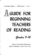 A Guide for Beginning Teachers of Reading  Grades 9 12