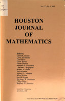 Houston Journal of Mathematics