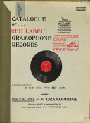 Catalogue Of Red Label Gramophone Records 1904