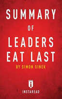 Summary Of Leaders Eat Last PDF