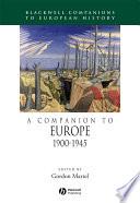 A Companion to Europe, 1900 - 1945 Pdf/ePub eBook