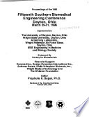 Proceedings of the 1996 Fifteenth Southern Biomedical Engineering Conference