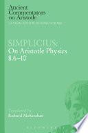 Simplicius  On Aristotle Physics 8 6 10 Book
