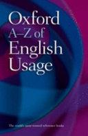 Oxford A-Z of English Usage