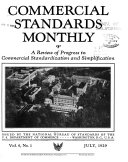 Commercial Standards Monthly A Review Of Progress In Commercial Standardization And Simplification