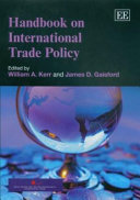 Handbook on International Trade Policy Book