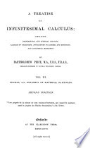 A Treatise on Infinitesimal Calculus  Statics  and dynamics of material particles  1868