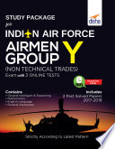 Study Package for Indian Air Force Airmen Group Y  Non Technical Trades  Exam with 3 Online Sets