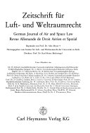 German journal of air and space law