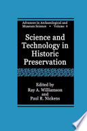 Science And Technology In Historic Preservation Book PDF