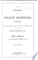 The Works of William Shakespeare  Complete