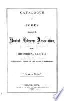 Catalogue Of Books Belonging To The Keokuk Library Association