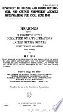 Department of Housing and Urban Development, and Certain Independent Agencies Appropriations for Fiscal Year 1984