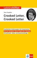 Lekt  rehilfen Tom Franklin  Crooked Letter  Crooked Letter