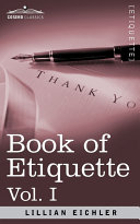 Book of Etiquette Pdf/ePub eBook