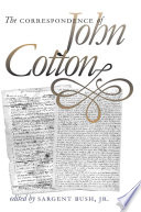 The Correspondence Of John Cotton Book PDF