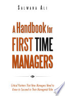 A Handbook for First Time Managers