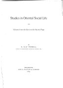 Studies in Oriental Social Life and Gleams from the East on the Sacred Page