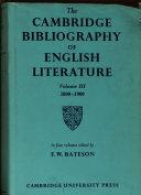 The Cambridge Bibliography of English Literature