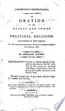 An Oration on the Extent and Power of Political Delusion