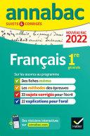 Pdf Annales du bac Annabac 2022 Français 1re générale Telecharger