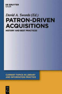 Patron driven Acquisitions