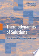 Thermodynamics of Solutions Book