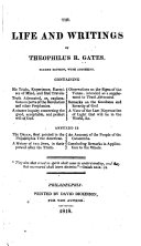 Pdf The Life and Writings of Theophilus R. Gates