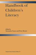 Pdf Handbook of Children's Literacy Telecharger
