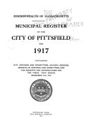 Municipal Register Of The City Of Pittsfield