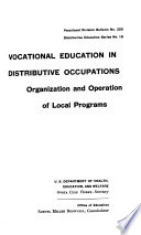 Vocational Education in Distributive Occupations Book