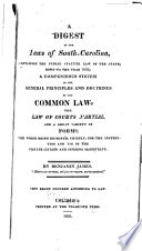 A Digest Of The Laws Of South Carolina