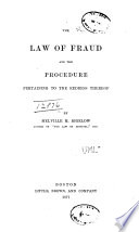 The Law of Fraud and the Procedure Pertaining to the Redress Thereof Book