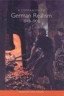 A Companion to German Realism, 1848-1900