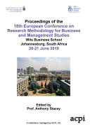 ECRM 2019 18th European Conference on Research Methods in Business and Management