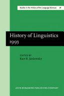 Pdf History of Linguistics 1993 Telecharger