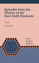 Episodes from the History of the Rare Earth Elements Book