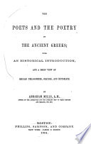 The Poets and the Poetry of the Ancient Greeks