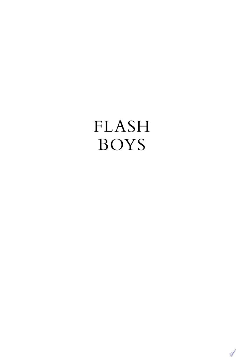Flash Boys: A Wall Street Revolt banner backdrop