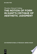 The Notion Of Form In Kant S Critique Of Aesthetic Judgment