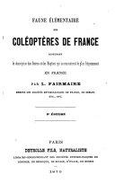 Faune élémentaire des coléoptères de France