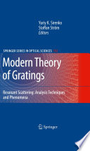 Modern Theory of Gratings Book