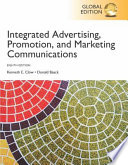 Integrated Advertising, Promotion, and Marketing Communications
